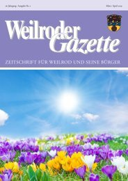 Weilroder Gazette März/April 2019