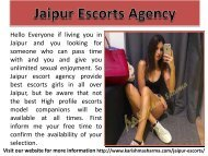 Jaiupr Independent Escorts Service
