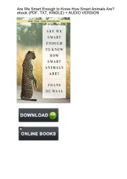 (KEEN) Download Are Smart Enough Know Animals ebook eBook PDF
