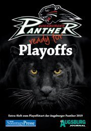 Augsburger Panther ready for Playoff 2019