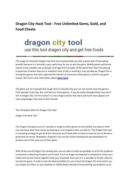 3 Dragon City Tool Box