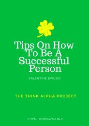 Tips On How To Be A Successful Person