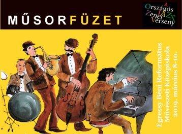 IV. Országos Jazz-zenei verseny - Műsorfüzet