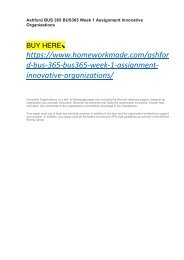 Ashford BUS 365 BUS365 Week 1 Assignment Innovative Organizations