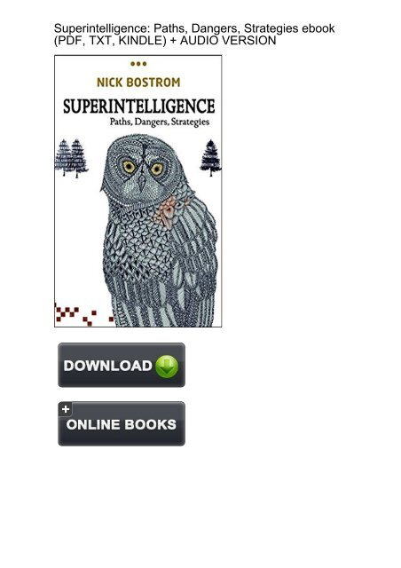 Superintelligence Paths Dangers Strategies Ebook