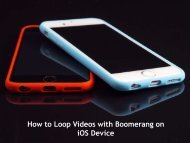 How to Loop Videos with Boomerang on iOS Device