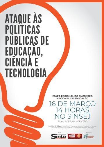 Cartaz - Encontro Nacional de Educação (Etapa Regional).