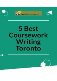 5 Best Coursework Writing Toronto