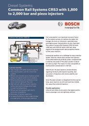 Datasheet Common Rail Systems CRS3 - Bosch Automotive ...