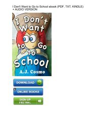 (ADVANTAGE) Download I Dont Want Go School ebook eBook PDF