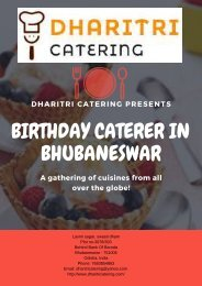 Birthday Caterer in Bhubaneswar