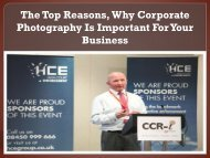 The Top Reasons Why Corporate Photography Is Important For Your Business