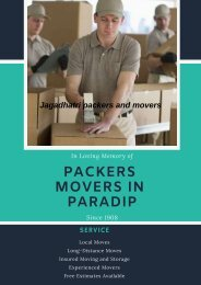 Packers Movers in Paradip