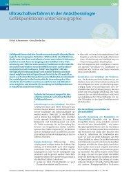 Pre-Learning 1a - Gefäßpunktionen unter Sonographie AINS 2006