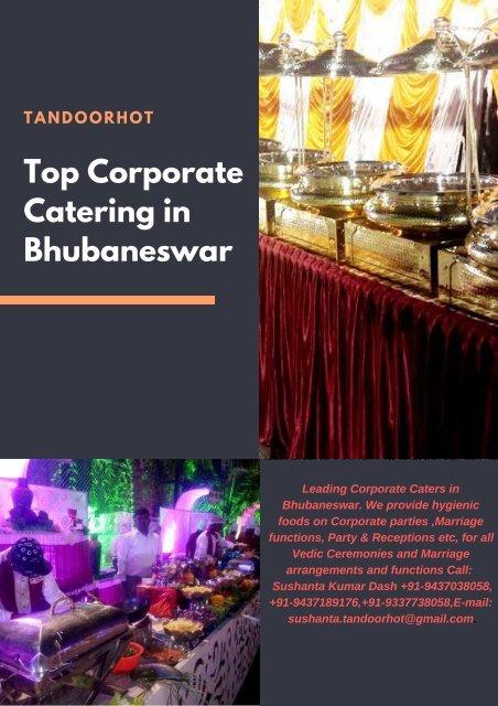 Corporate Catering in Bhubaneswar