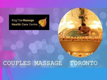 Couples Massage Toronto – King Thai Massage