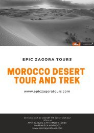 Morocco Desert Tour and Trek
