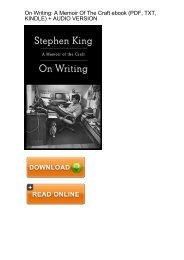 (PRIVILEGED) Download Writing Memoir Craft Stephen King ebook eBook Mobi