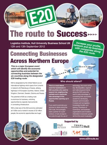 The route to Success - E20 Route