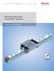 Mounting Instructions for Ball Rail Systems - Bosch Rexroth