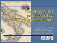 The SIMCODE:IGT System of Geographical Information - Regione ...