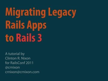 Upgrading Legacy Rails Applications to