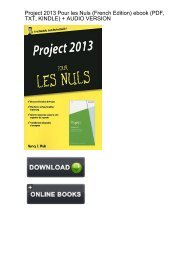 (OPEN-MINDED) Project 2013 Pour Nuls French ebook eBook PDF Download