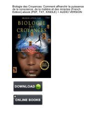Download Biologie Croyances affranchir puissance conscience ebook