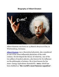 Biography of Albert Einstein