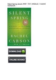 (CONVENIENT) Download Silent Spring Rachel Carson ebook eBook Mobi