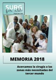Surg For All. Memoria2018