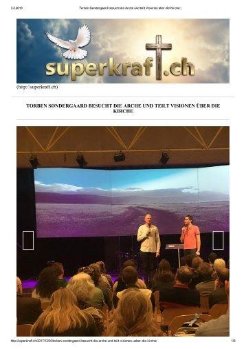 Torben Søndergaard besucht die Arche und teilt Visionen über die Kirche _