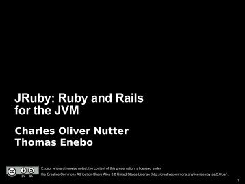JRuby: Ruby and Rails for the JVM