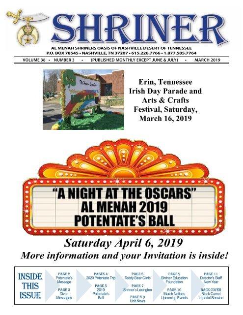 SHRINER MARCH 2019