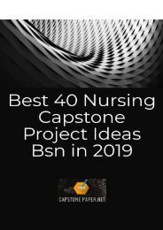 Best 40 Nursing Capstone Project Ideas Bsn in 2019
