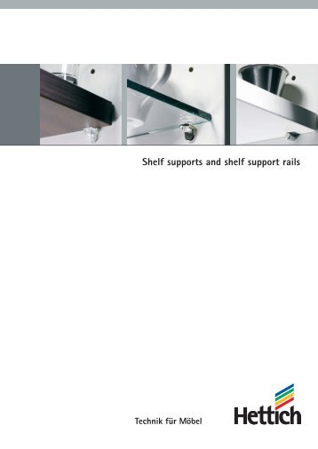 Catalogue Shelf supports and shelf support rails - Hettich