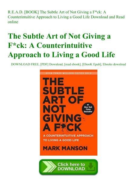 R E A D  [BOOK] The Subtle Art of Not Giving a Fck A