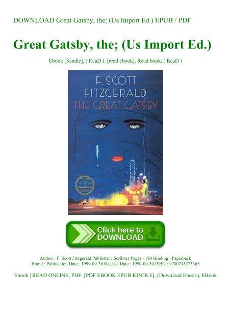 Great Gatsby Book Epub