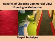 Benefits of Choosing Commercial Vinyl Flooring in Melbourne