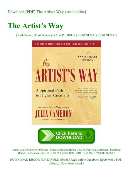 The Artists Way By Julia Cameron Ebook