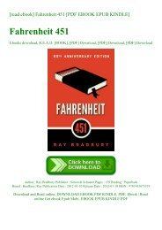 [read ebook] Fahrenheit 451 [PDF EBOOK EPUB KINDLE]