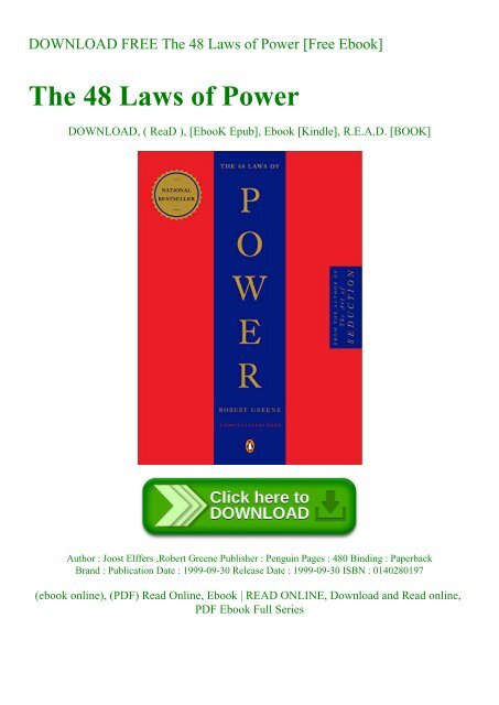48 laws of power ebook pdf free download