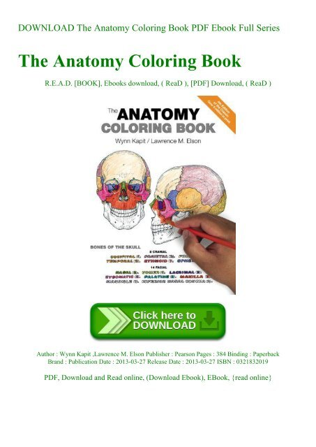 DOWNLOAD The Anatomy Coloring Book PDF Ebook Full ...