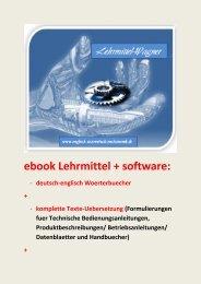 ebook englisch Technische Berufsausbildung (Marke Lehrmittel-Wagner