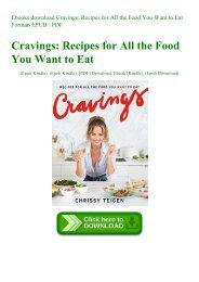 Ebooks download Cravings Recipes for All the Food You Want to Eat Forman EPUB  PDF