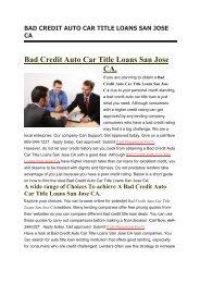 Online Car Title Loans San Jose CA | 669-244-1227