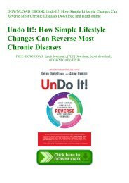 DOWNLOAD EBOOK Undo It! How Simple Lifestyle Changes Can Reverse Most Chronic Diseases Download and Read online