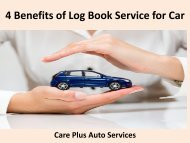 4 Benefits of Log Book Service for Car
