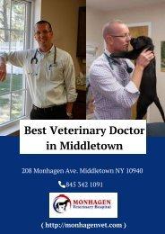 Best Veterinary Doctor in Middletown