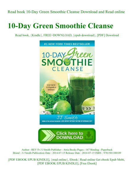Read Book 10 Day Green Smoothie Cleanse Download And Read Online
